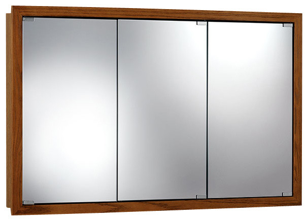 "Granville 48""x30"" Surface Mount Honey Oak Medicine Cabinet."