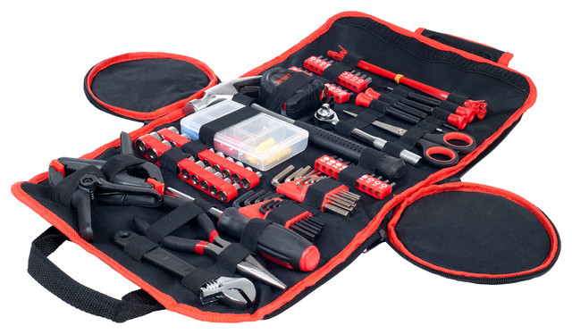 86 Piece Tool Set With Roll-Up Bag By Stalwart.