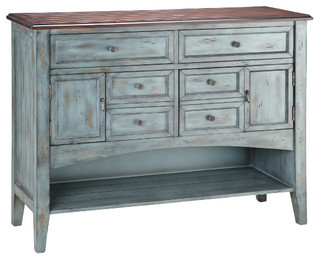 Hartford Six Drawer Buffet/Server - Farmhouse - Buffets And Sideboards - by HedgeApple