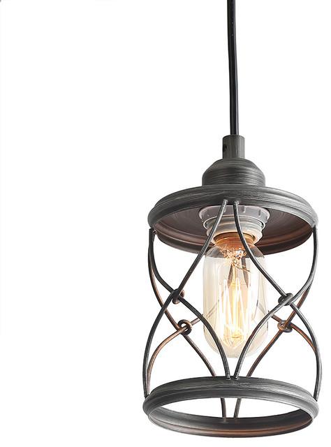 Lnc 1 Light Geometric Pendant Lights Mini Lighting Rustic Chandeliers