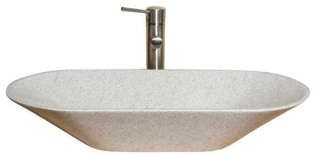 V-Vgo2814 White Pearl Polished Vessel Sink.