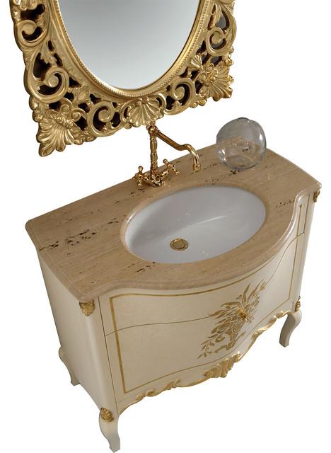 Monaco 36 Gold Bathroom Vanity Set Victorian Bathroom Vanities And Sink Consoles By Eviva Llc Houzz