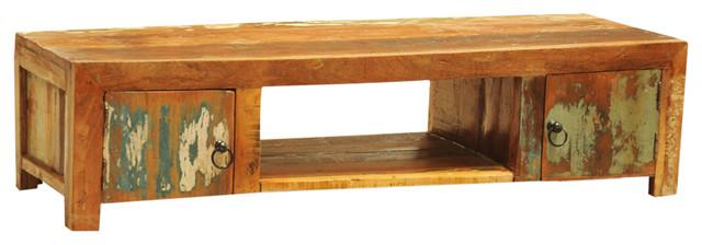 Vidaxl Reclaimed Wood Tv Cabinet With 2-Door, Vintage Antique Style.