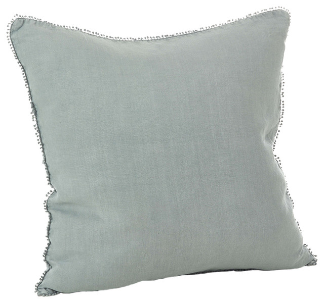 Decorative Pillows Down Filled : fenncostyles.com - Pomponin Collection PomPom Design Down Filled Linen Throw Pillow & Reviews ...