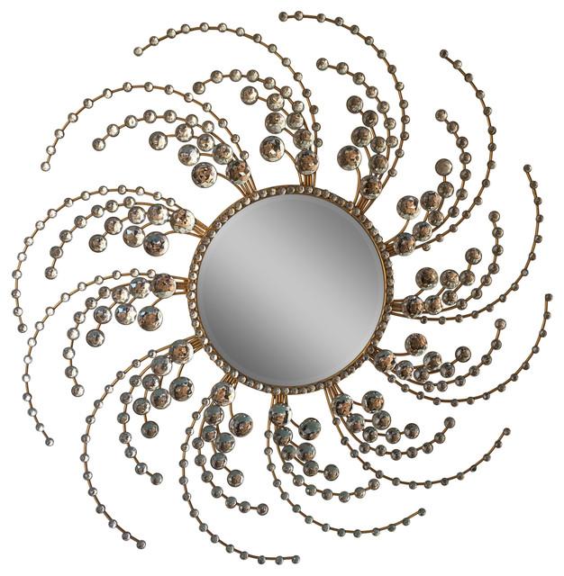Decorative Starburst Mirror Metal Wall Mirror.