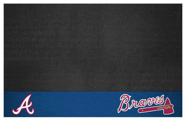 "Mlb Atlanta Braves Grill Mat 26""x42""."