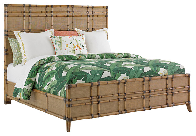 Tommy Bahama Twin Palms Coco Bay Panel Bed Tropical