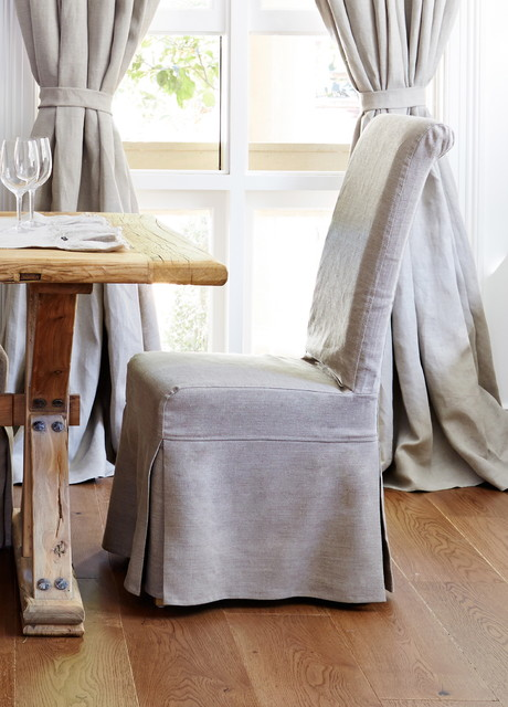Dining Chair Linen Slipcover