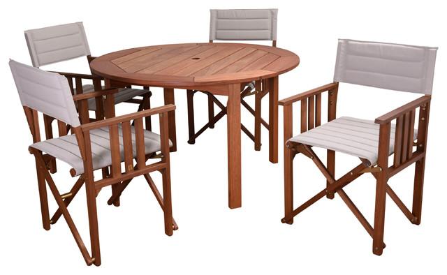 Milano Panama 5-Piece Patio Dining Set, Khaki.