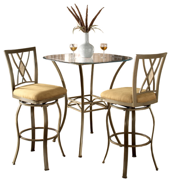 Brookside 3-Piece Bistro Set - Transitional - Indoor Pub And ...