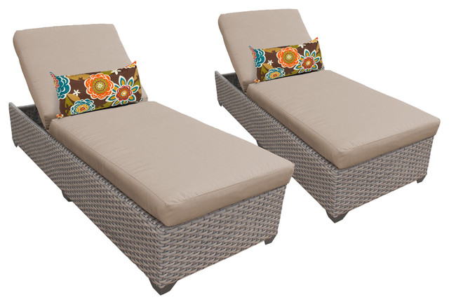 Tk classics oasis chaise outdoor wicker patio furniture for Chaise longue garden furniture