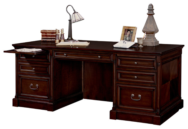 Mount View Double Pedestal Executive Desk Traditional