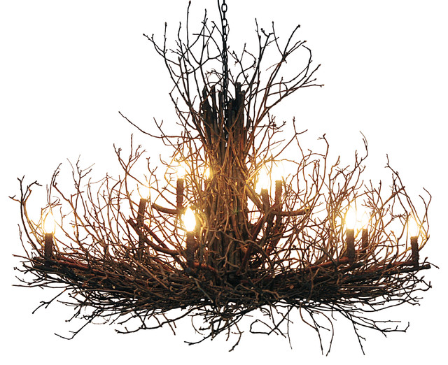 Bramble branch chandelier rustic chandeliers by wish designs usa bramble branch chandelier aloadofball Image collections