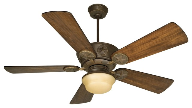 Craftmade Chaparral 54 Aged Bronze Textured Ceiling Fan W/ 5 Blades - K10510.