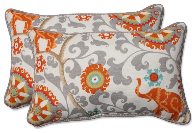 Menagerie Cayenne Oversized Rectangular Throw Pillow, Set