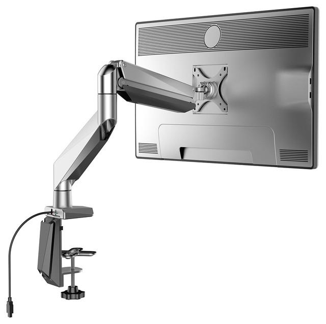 Loctek Heavy Duty Swing Monitor Arm Desk Mounts Stand Fits
