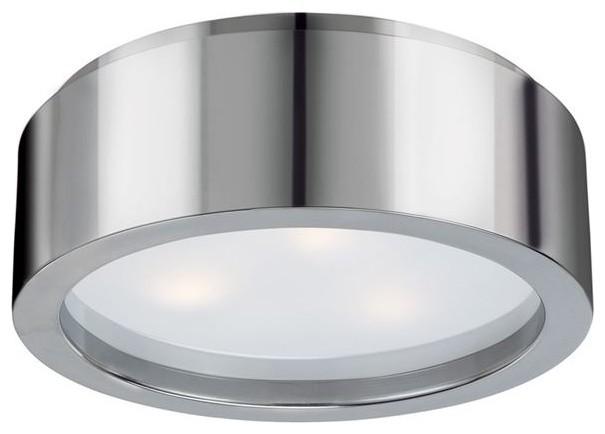 Sonneman Lighting 3721.35 Puck Flush Mount In Polished Nickel.