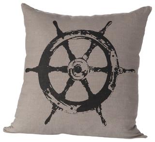 ... Wheel Pillow - Beach Style - Decorative Pillows - by Cricket Radio