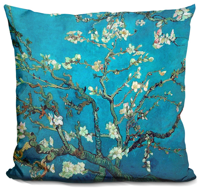 Almond Blossom Decorative Accent Throw Pillow.