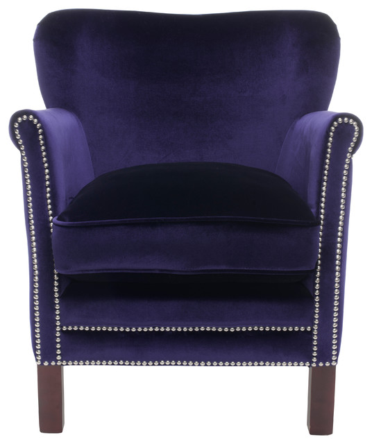 Jenny Arm Chair, Royal Blue by Safavieh