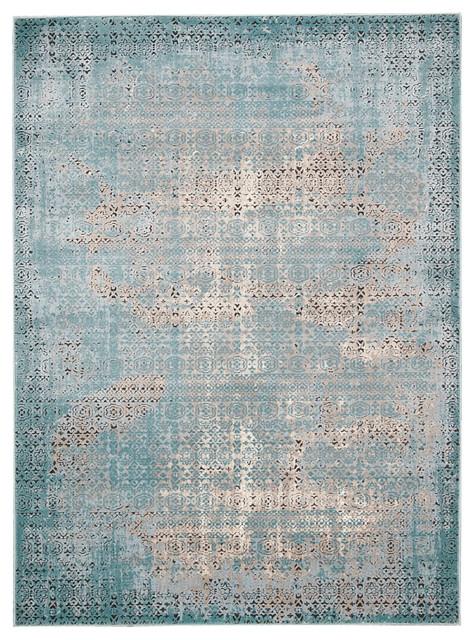 Nourison 2 2 Quot X7 6 Quot Karma Blue Runner Rug Contemporary