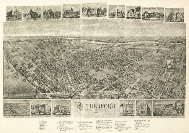 Lantern Press Quot Rutherford New Jersey Panoramic Map