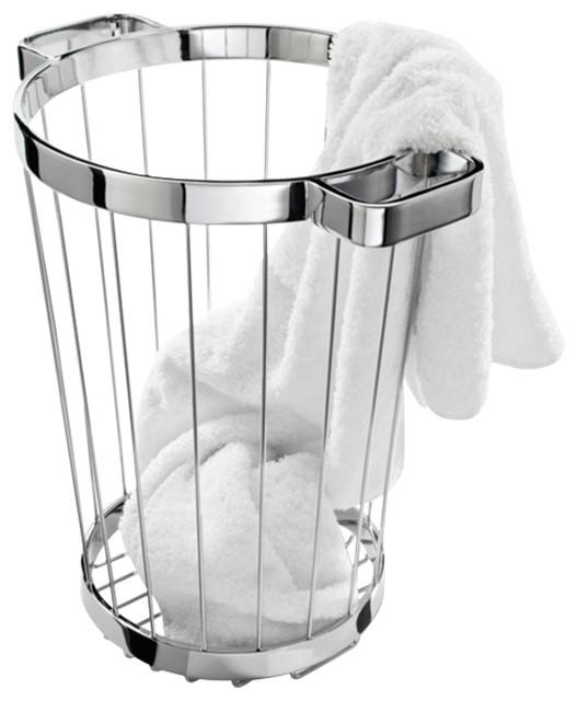 Dw 222 Laundry Basket In Chrome.