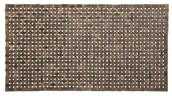 Lattice Wooden Mat Modern Doormats