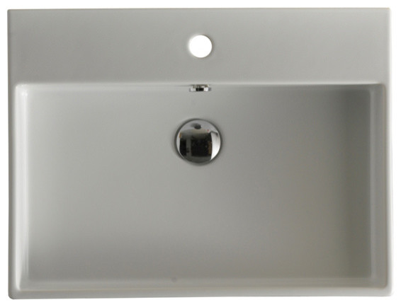 Unlimited 70 Wall Mount Sink 27.6, With Faucet Hole.