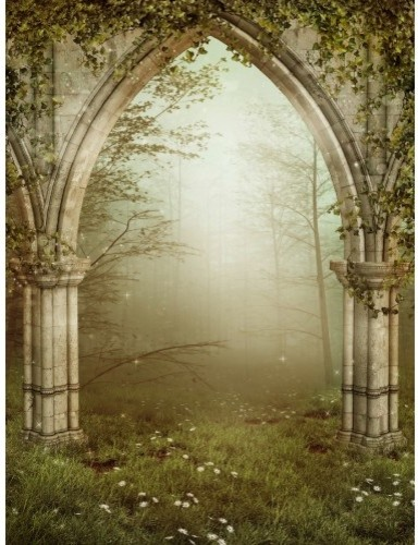 Beautiful Mystical Forest Wall Mural Contemporary Wall Decals