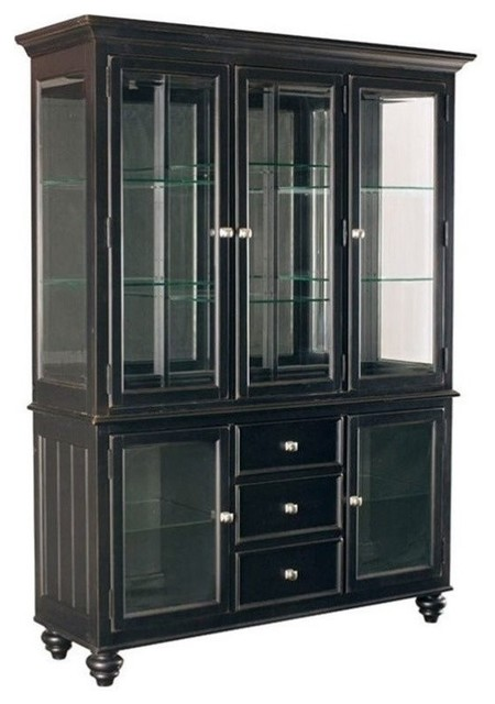 American Drew Camden China Cabinet, Buttermilk Finish - China Cabinets And Hutches - by Homesquare