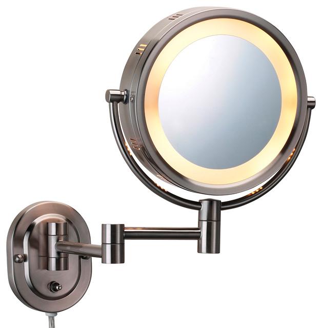Modern Wall Mounted Nickel Make Up Mirror