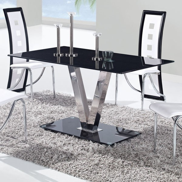 Dining Table With Stainless Steel Legs