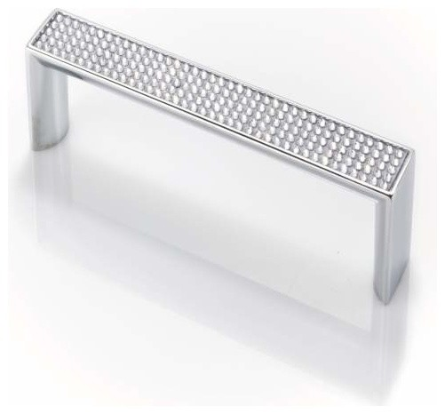 Topex M1880B128Crlswa Round Swarovski Crystal Pull Chrome 128mm Ctc  Contemporary Cabinet And Drawer Part 58