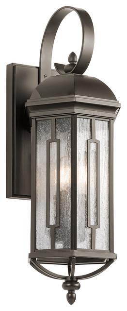 Kichler Outdoor 3-Light Wall Lantern, Olde Bronze