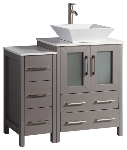 Vanity Art Vanity Set With Vessel Sink Contemporary Bathroom Vanities And Sink Consoles By Vanity Art Llc Houzz