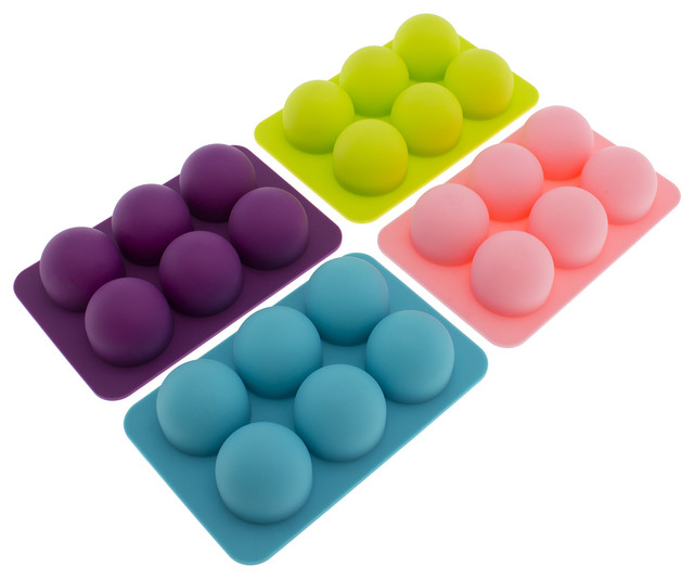 Silicone Round Molds, Set Of 4. -1