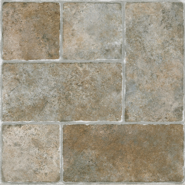 sterling 12x12 self adhesive vinyl floor tile set of 20 cottage stone traditional