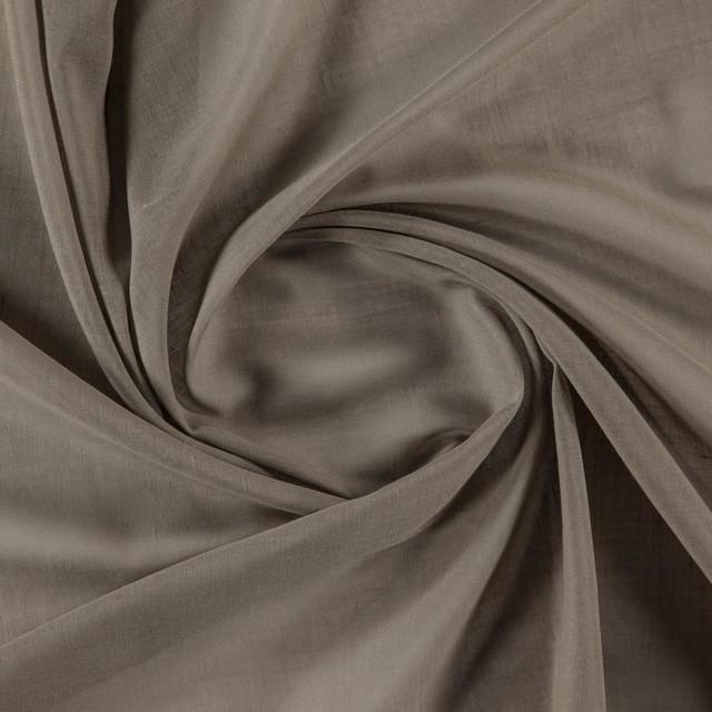 Orvieto 008 Sheer Plain Fire Retardant Fabric, Brown, Sample
