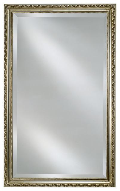 "Afina Basix 16""x26"" Single Door Medicine Cabinet, Antique Silver."