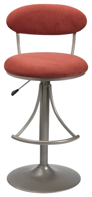 Hilale Venus 24 Inch To 30 Swivel Bar Stool In Flame Finish