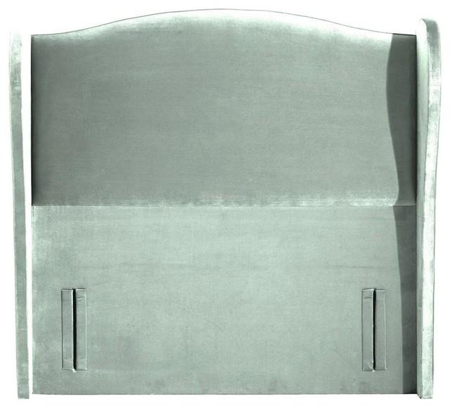 Ariel Standard Headboard, Plush Duck Egg, Single 100 cm