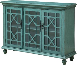 3 Door Media Credenza   Traditional   Media Cabinets   By HedgeApple
