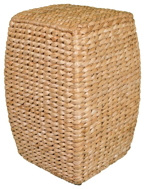 Birdrock Home 21 Seagrass Accent Stool Tropical Accent And