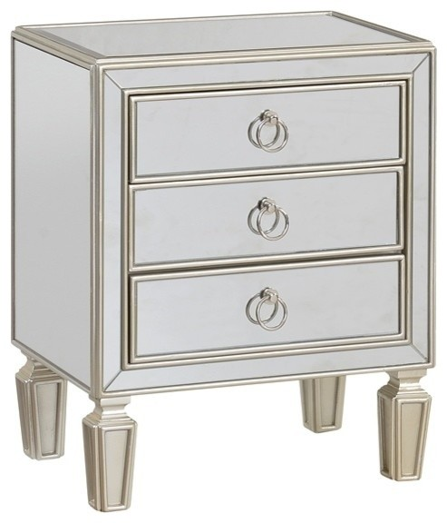3-Drawer Chest in Champagne Gold Finish
