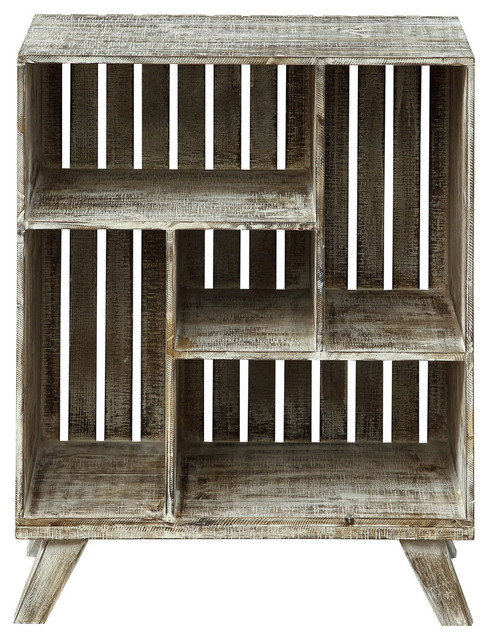 Crate Bookcase, West Bay White Washed
