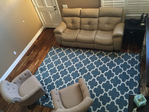 Furniture placement and Area rug