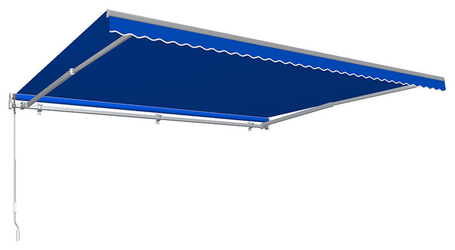 24&x27; Maui Left Motor/remote Retractable Awning, Bright Blue.