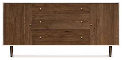 MiMo 3 Center Drawers 2 Door Dresser by Copeland Furniture, Bronze