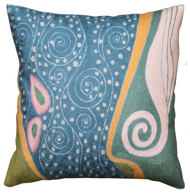 silk ikat pillow cover handwoven silk cushion decorative pilow modern pillow cover soft color accent pillows home decor home living 20x20